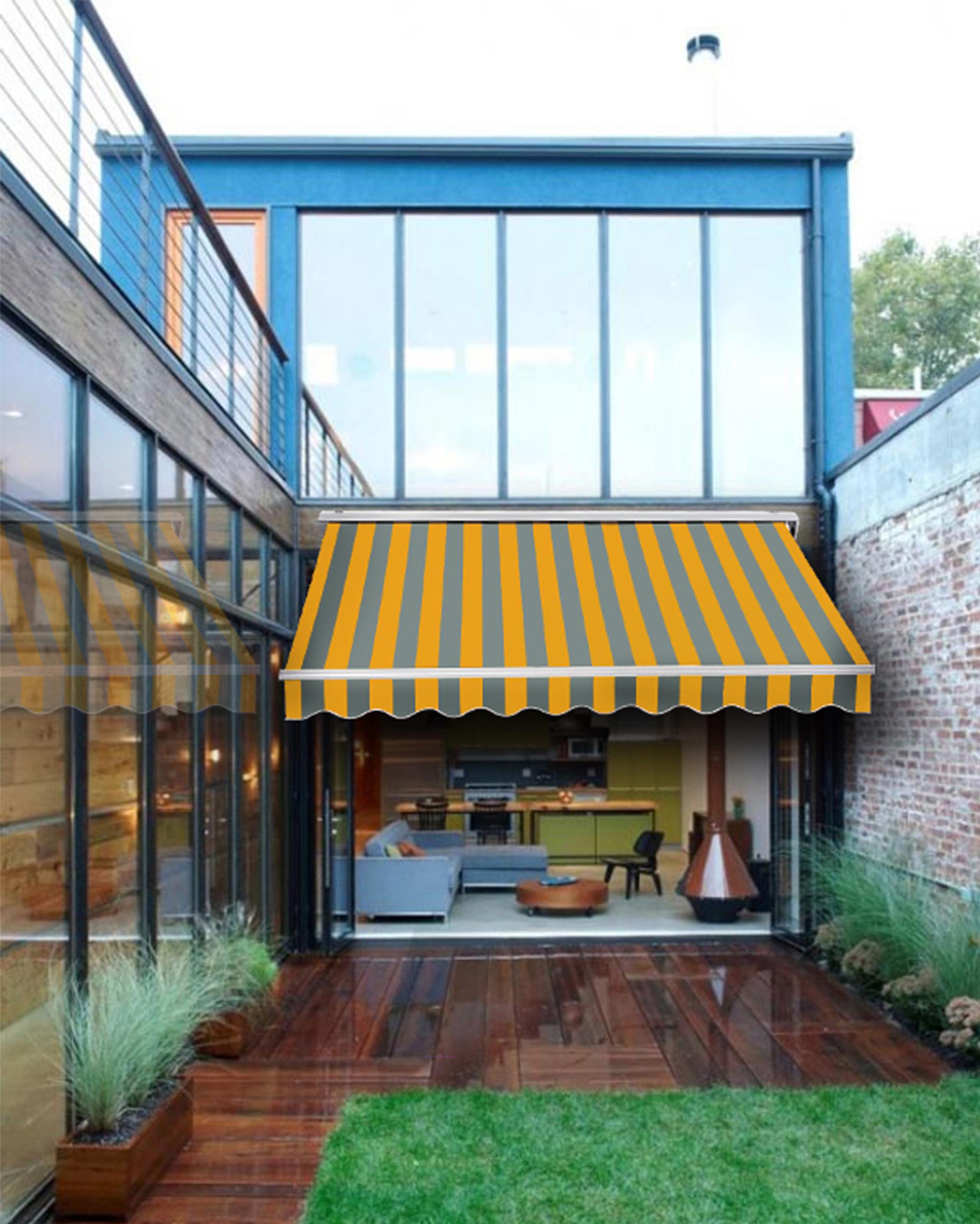 markise gelenkarmmarkise farb ma wahl garten terrasse. Black Bedroom Furniture Sets. Home Design Ideas