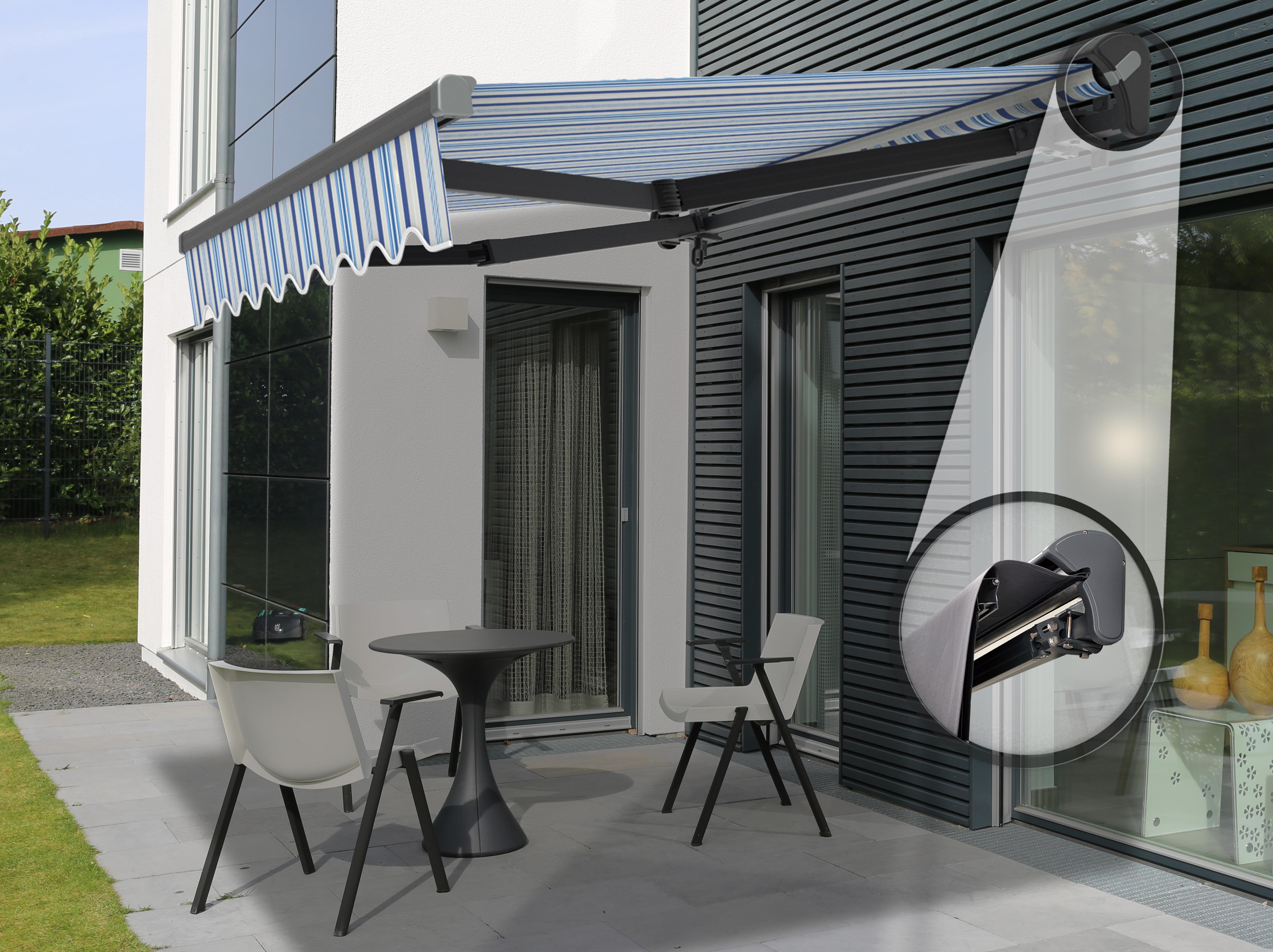 4m markise alu markise halbkassette stofftaustauschbar. Black Bedroom Furniture Sets. Home Design Ideas