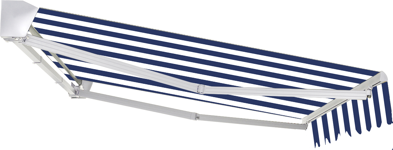 Markise Alu Halbkassetten Markisen Blau Wei 350x250cm Mit