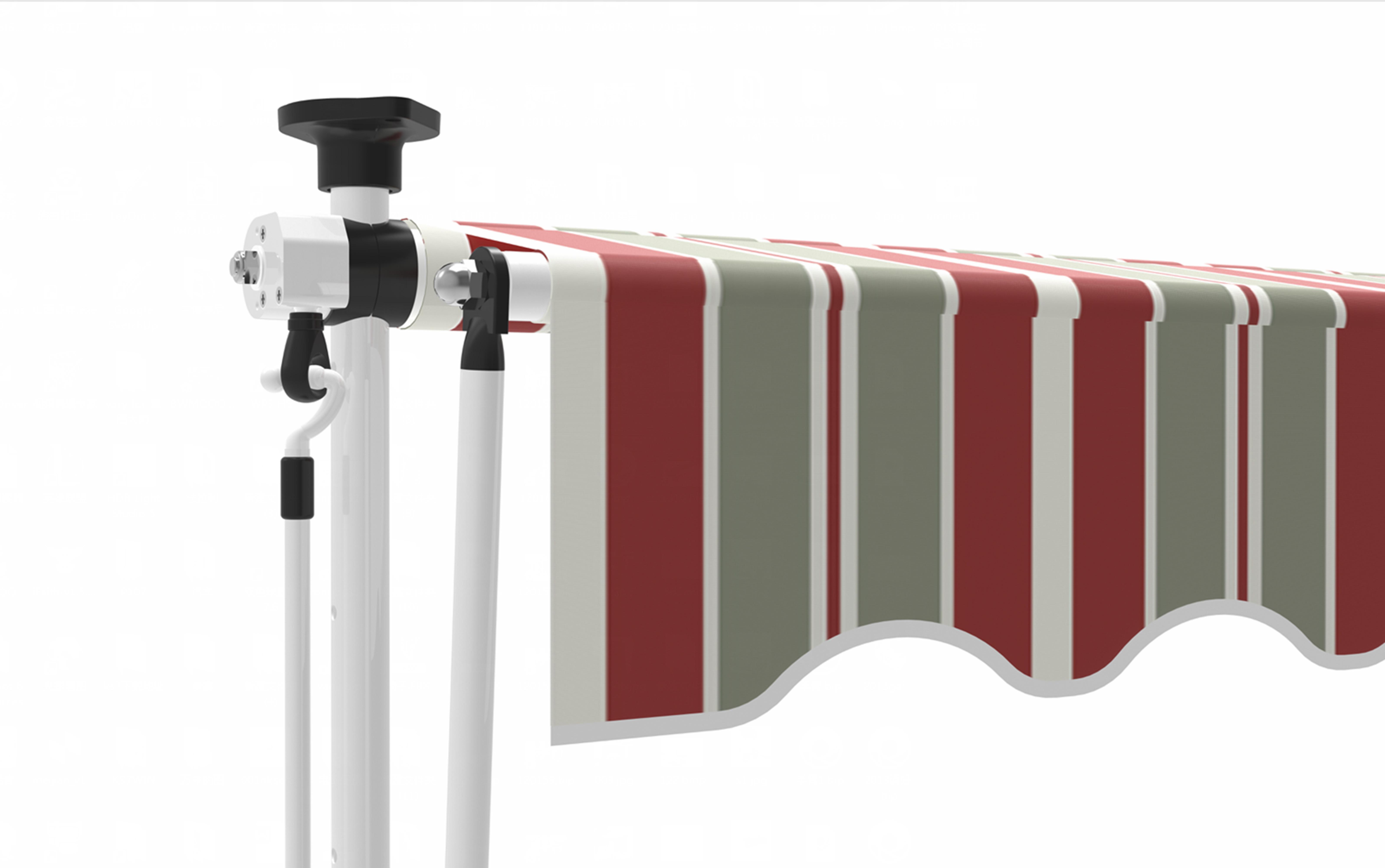 klemmmarkisen markise klemm markise klemmmarkise 250 150cm. Black Bedroom Furniture Sets. Home Design Ideas