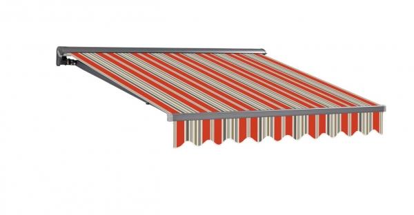 3,5x2m Stabile Aluminium Markise Halbkassetten Stofftaustauschbar SP1201 SPD031