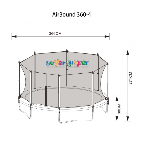 Trampolin AirBound 360-4