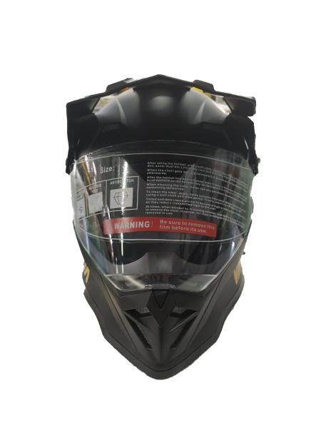 VANA-819 Motorradhelm Rollerhelm with Visor Motocross Helmet Matt Schwarz in Größe 61cm