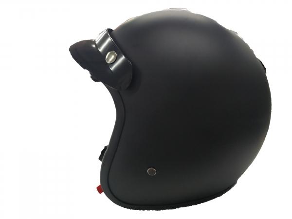 VANA-181 Motorradhelm Rollerhelm OpenFace Helmet Matt Schwarz in Größe 61cm