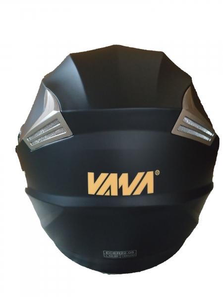 VANA-708 Motorradhelm Rollerhelm Double Visors Open Face Helmet Matt Schwarz in Größe 59/60cm
