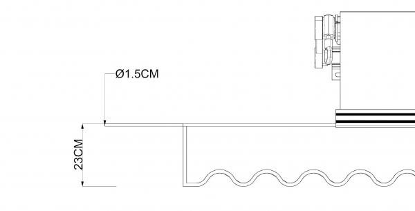 5.7x3.5m SPD060 Tuch mit Volant