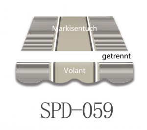 3,5 x 3m Markisentuch SPD059