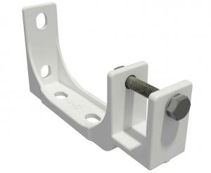 2er-Set Stahl Decken Wandhalterung für Markise Kombihalterung 40mm SPP059 weiß