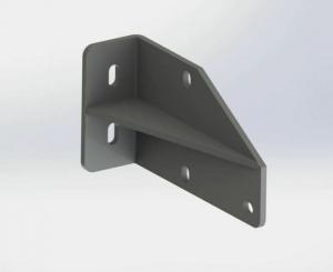 Stahl-Dachsparrenhalter für Gelenkarmmarkise SPP060 Grau