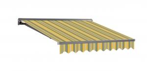 3,5x2m Stabile Aluminium Markise Halbkassetten Stofftaustauschbar SP1201 SPD035