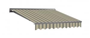 3,5x2m Stabile Aluminium Markise Halbkassetten Stofftaustauschbar SP1201 SPD060