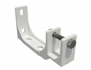 2er-Set Stahl Decken Wandhalterung für Markise Kombihalterung 35mm SPP059 weiß