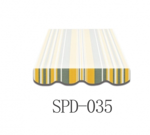 5 Meter Markisenbespannung nur Volant SPD-035