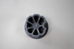 Markisenkapsel Wellenkapsel Runde Tuchrolle-Achse 70mm Schwarz