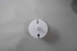 Markisenkapsel Wellenkapsel Runde Tuchrolle-Achse 70mm Weiss