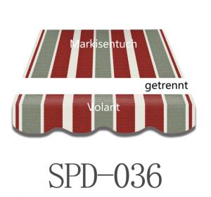 6 Meter Markisenbespannung nur Volant SPD-036