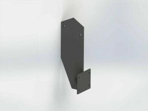 Dachsparrenhalterung für Vollkasstenmarkise Montage SPP062 Grau